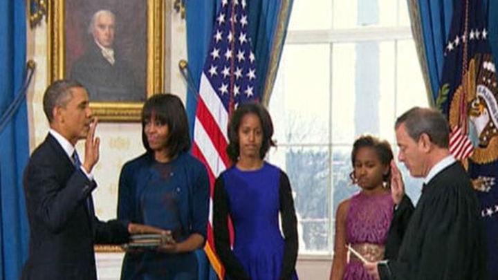 Obama jura el cargo para un segundo mandato como presidente de EE UU