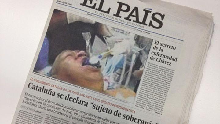 """""""El País"""" pide disculpas por publicar la foto falsa  de Hugo Chávez entubado en una cama de hospital"""