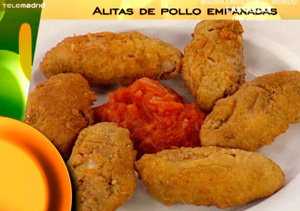 Alitas de pollo empanadas