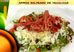 Receta: Arroz salteado con verduras
