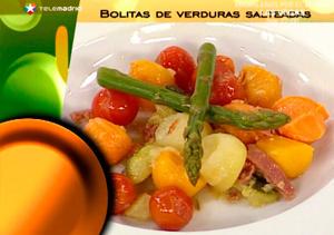 ¿Qué comemos hoy? Receta: Bolitas de verduras salteadas