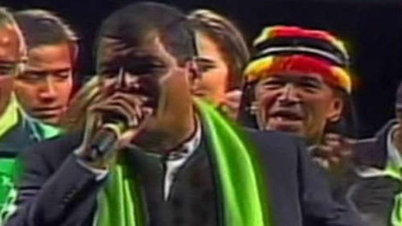 Rafael Correa logra la reelección en Ecuador con el 57% de los votos