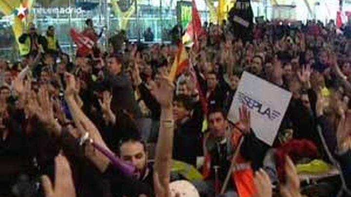 Unos 4.000 trabajadores protestan en el arranque de otra semana de huelgas en Iberia