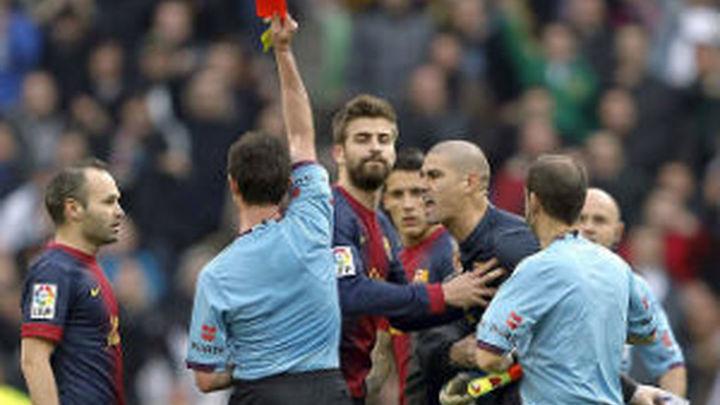 Valdés, sancionado con cuatro partidos por su expulsión en el Bernabéu