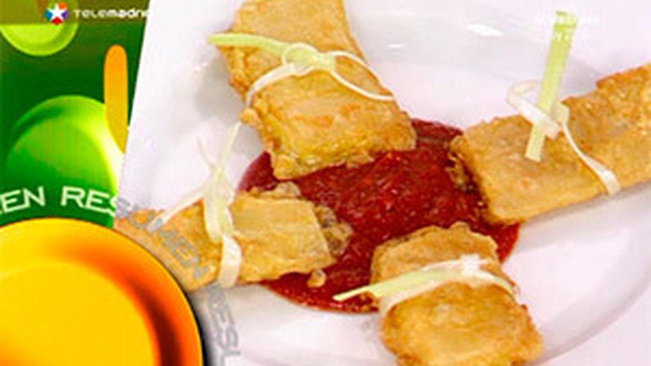 Receta: Pencas rellenas de jamón y queso