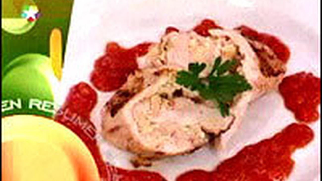 Receta: Pechugas de pollo rellenas de marisco