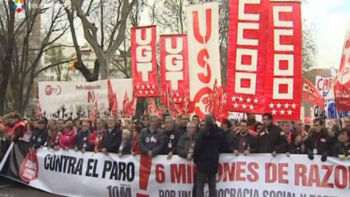 Miles de personas se manifestan en toda España contra los recortes y el paro