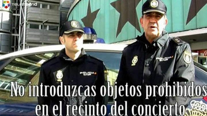 Campaña de seguridad ante grandes espectáculos con motivo de la visita a España de Justin Bieber