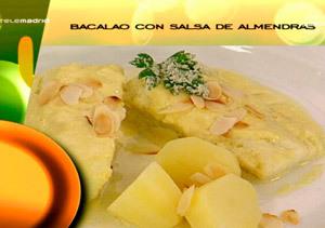Receta: Bacalao con salsa de almendras