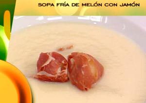 Receta: Sopa de melón fría con jamón