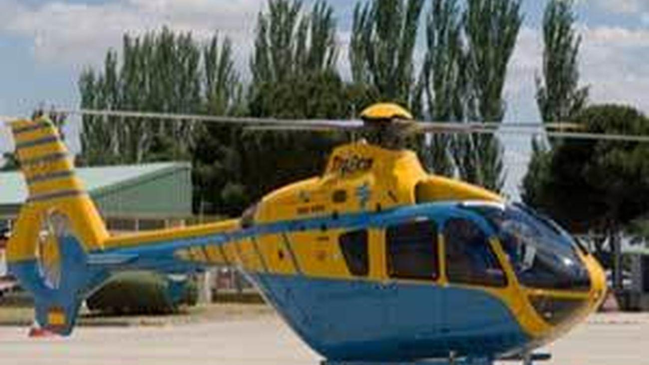 Helicóptero con radar de la DGT