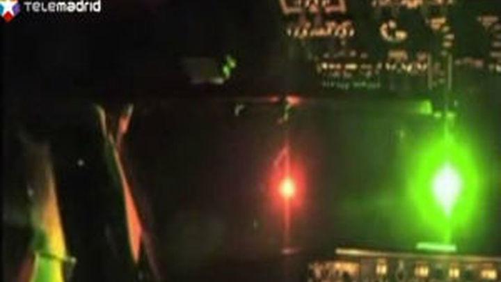 Los pilotos denuncian deslumbramientos con láser