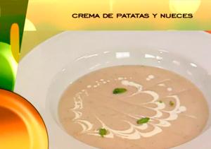 Receta: Crema de patatas con nueces