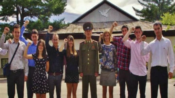 Jóvenes comunistas españoles, con la dictadura de Corea del Norte