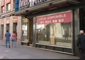 La calle Preciados presenta disponibilidad comercial por primera vez en los últimos años