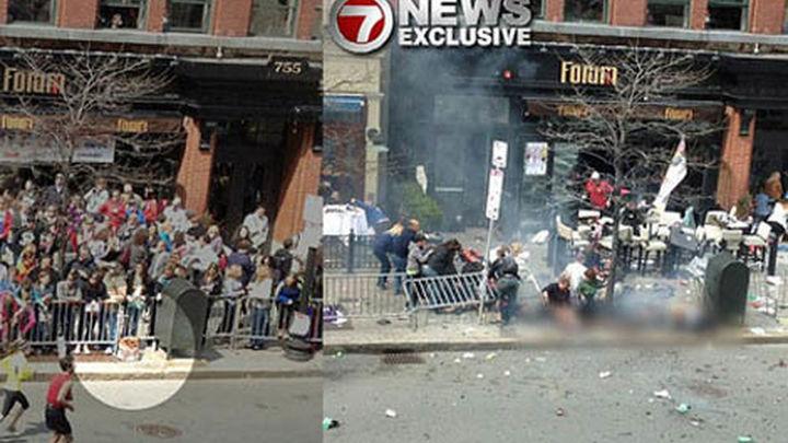 ¿Es esta la segunda bomba Boston momentos antes de que estallara?
