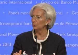 """Lagarde insiste en que España """"necesita  más tiempo"""" para realizar su consolidación fiscal"""