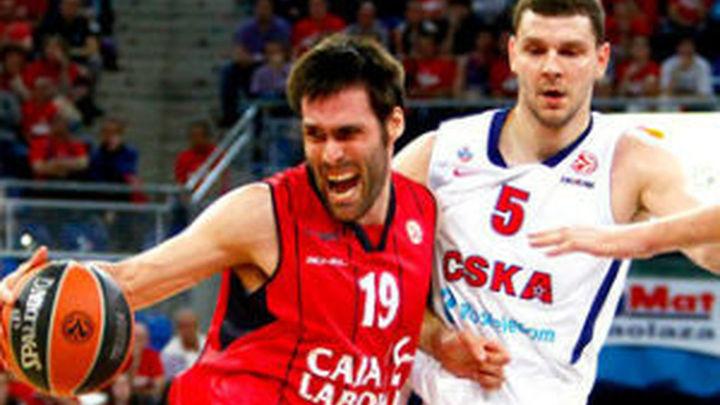 85-94. El Caja Laboral cae con el CSKA y queda fuera de la Final Four