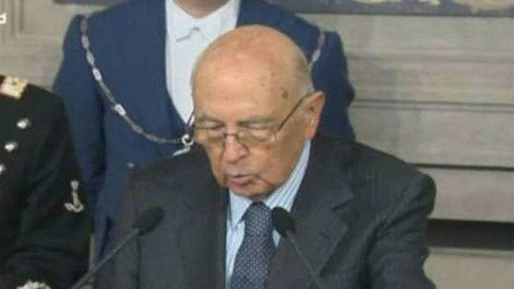 Giorgio Napolitano, reelegido presidente de Italia