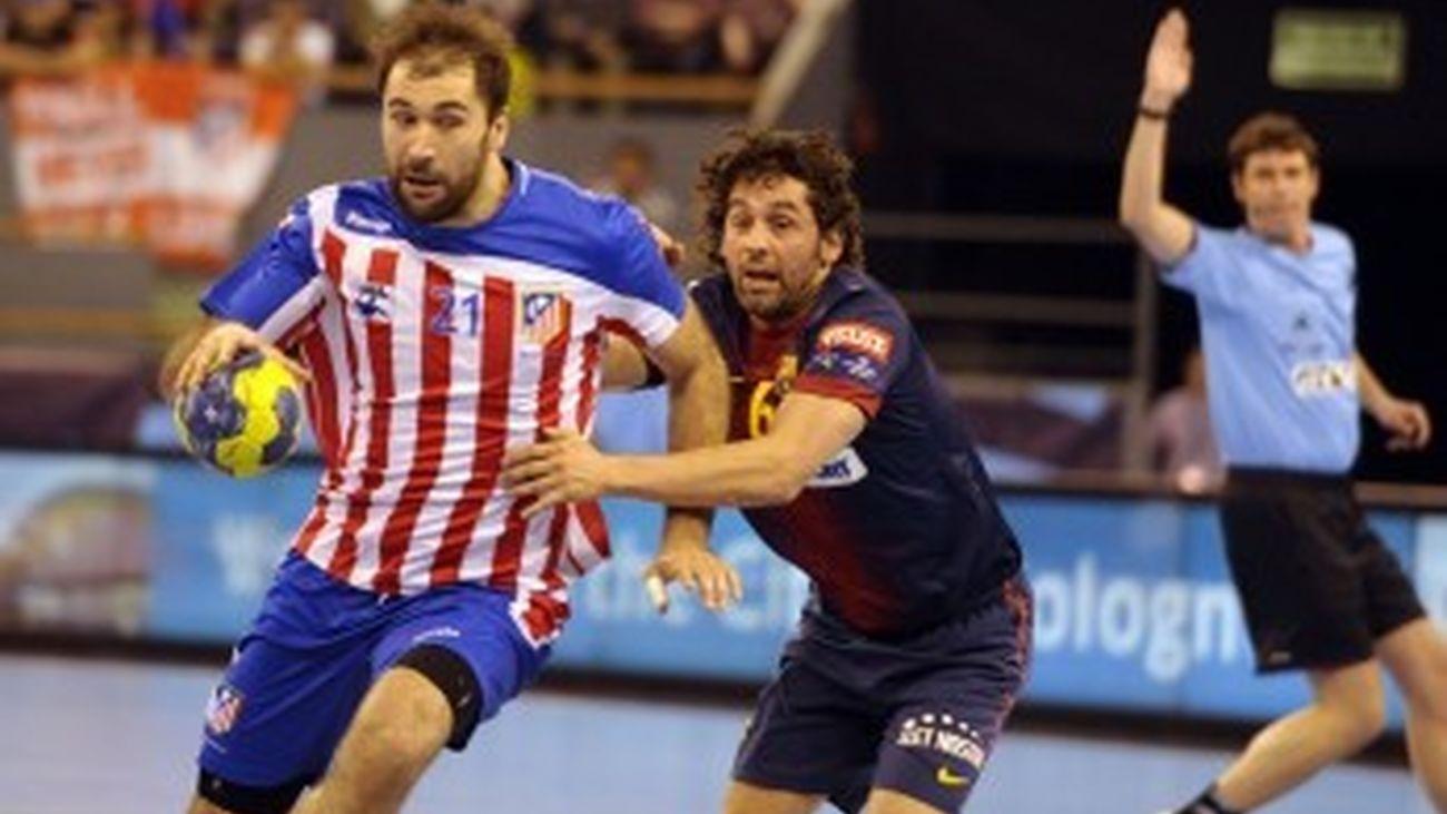At. Madrid balonmano ante el Barça