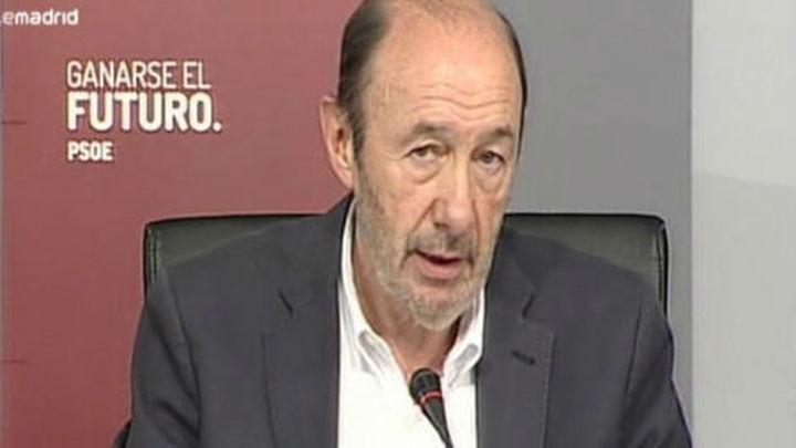 Rubalcaba pide una moratoria para los despidos por causas económicas hasta 2015