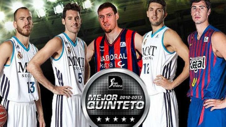 Tres madridistas en el quinteto ideal de la ACB