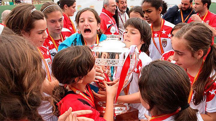 La selección madrileña femenina, campeona de España alevín