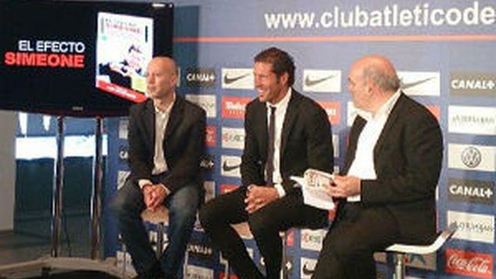 """Simeone: """"No pienso en si se va Falcao, sino en lo que dio al equipo"""""""