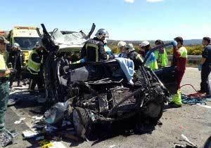 Dos fallecidos en un accidente de tráfico en la A-1, en La Cabrera