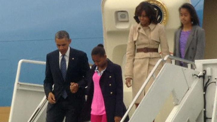 Obama llega a Belfast para una corta visita y asistir a la cumbre del G8