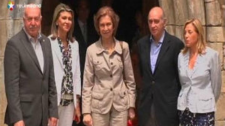 La Reina visita las zonas dañadas por la riada en Huesca y el Valle de Arán