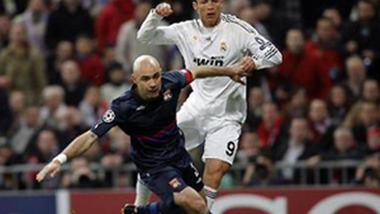 El Real Madrid juega ante el Olympique de Lyon