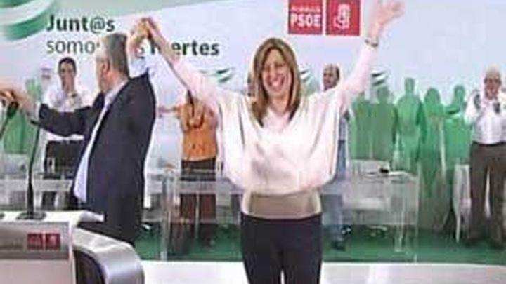 Susana Díaz ensalza la integridad de Griñán tras ser proclamada candidata