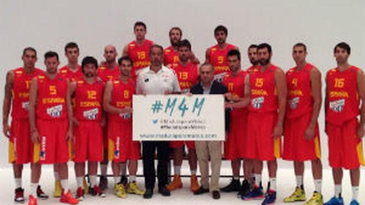 La selección española de baloncesto apoya la campaña #M4M