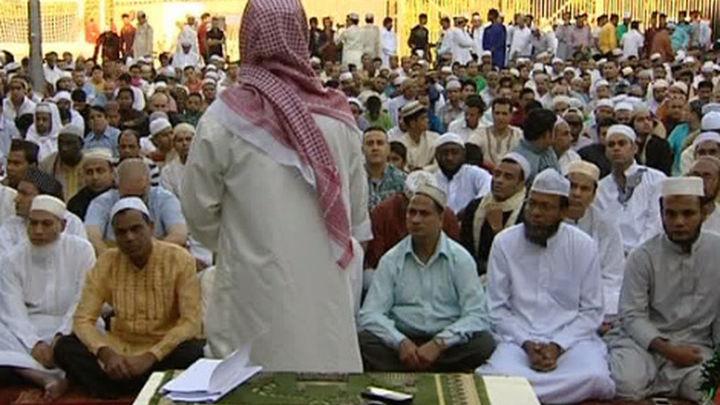 Celebran el fin del Ramadán en Lavapiés