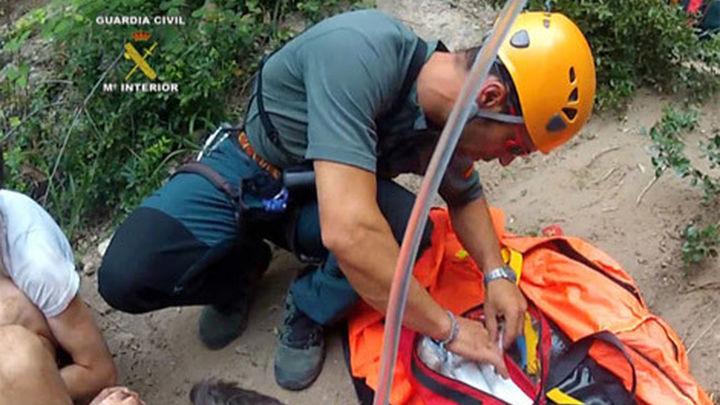 Dos senderistas rescatados en Cercedilla por principio de infarto y esguince