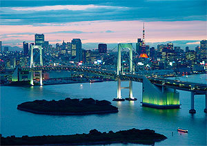El Rainbow Bridge de Tokio
