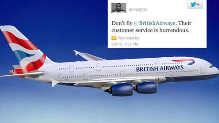 """Un usuario molesto se queja a British Airways con un """"tuit promocionado"""""""