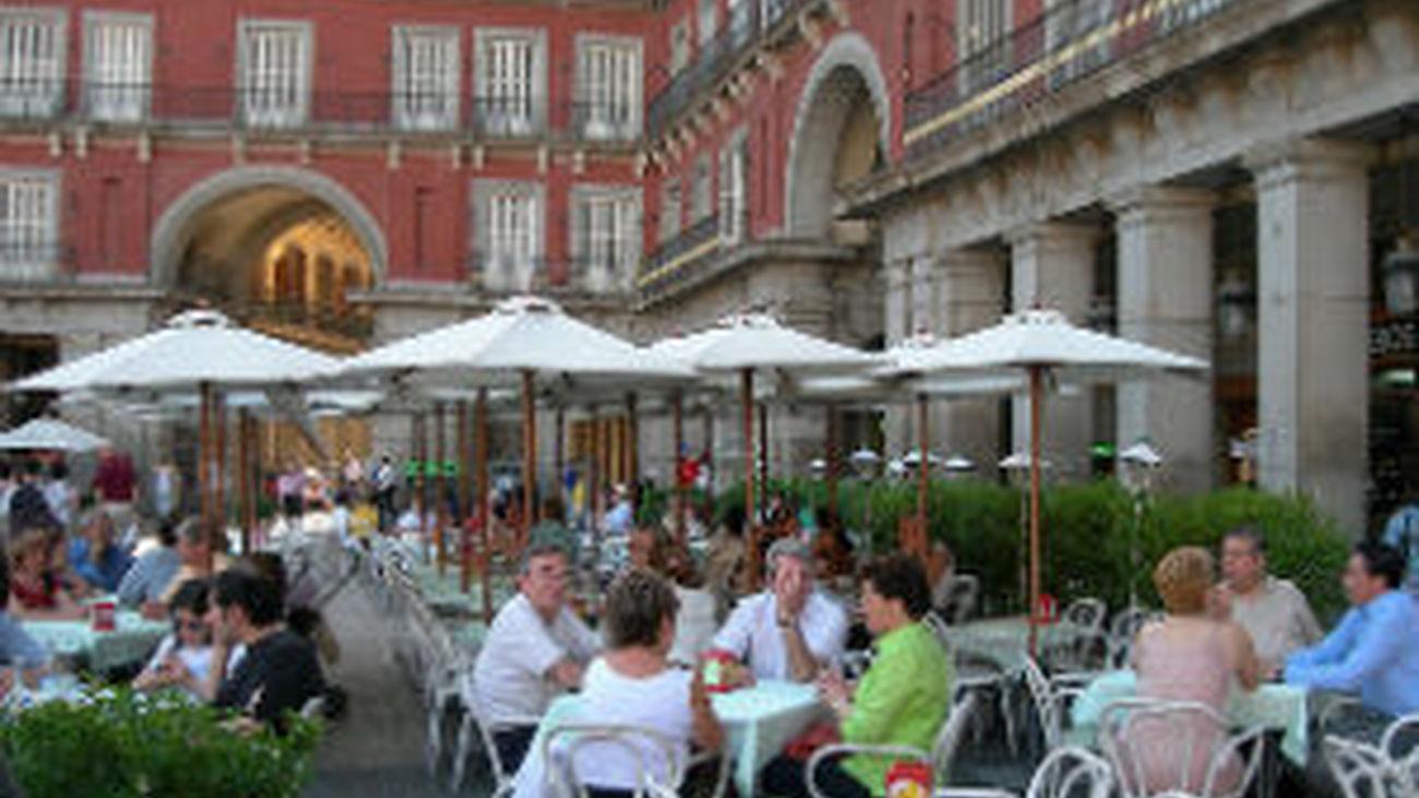 Calor y terraza en la Plaza Mayor
