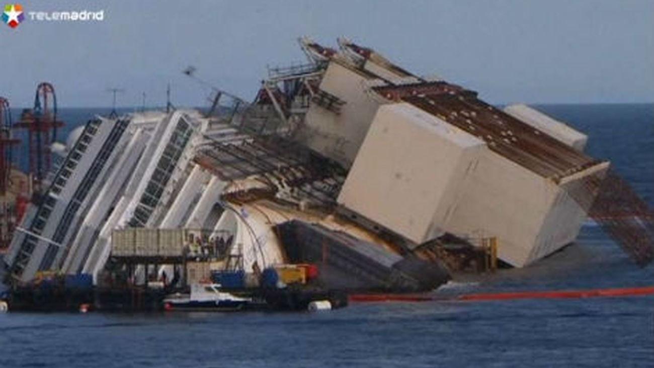 Da comienzo la complica la operación para enderezar el Costa Concordia