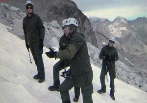 Un grupo de militares entrenan para viajar al Polo Sur