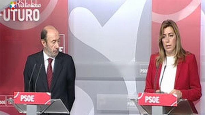 Rubalcaba y Díaz analizan los Presupuestos y orillan los ERE y las primarias