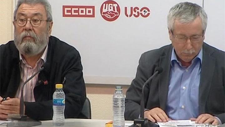 """CCOO y UGT denunciarán el 1 de mayo que el empleo """"sigue en recesión"""""""