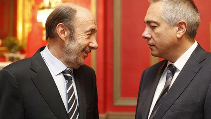 """Pere Navarro y Rubalcaba harán un """"gran  acto"""" en Barcelona a favor del federalismo"""