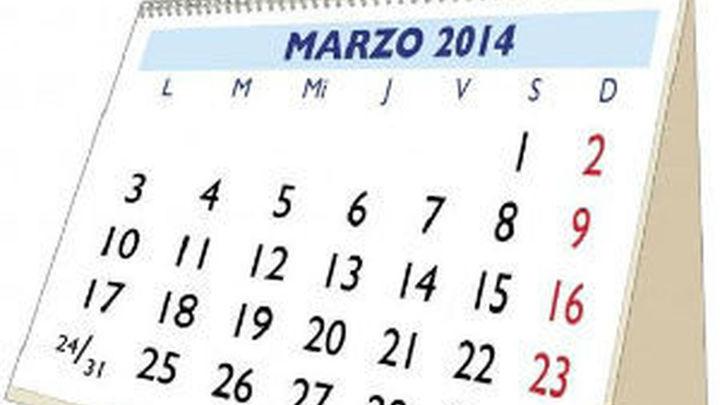 Calendario 2014, nueve fiestas nacionales y solo tres entre semana