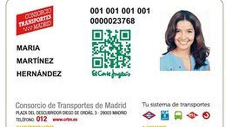 El Consorcio insertará publicidad de El Corte  Inglés en 50.000 tarjetas de transporte sin contacto