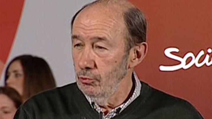 Rubalcaba: «Los socialistas no estaremos nunca a favor de la autodeterminación»