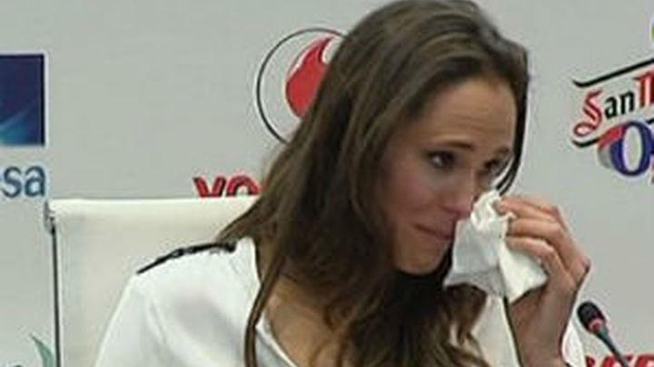 Amaya Valdemoro se despide entre lágrimas
