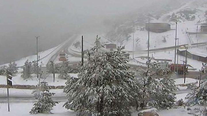 En alerta meteorológica amarilla la Sierra de Madrid por nevadas