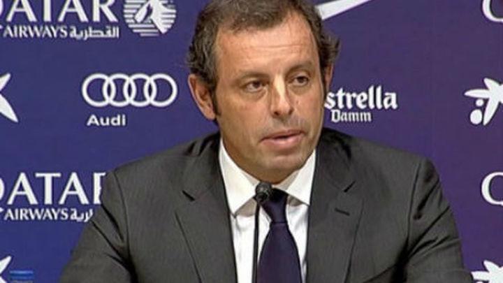 Rosell dimite; Bartomeu, presidente hasta 2016